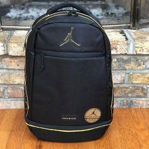 66964e13f3e0ac Nike Bags - Nike Jordan- ASAHD X Jumpman Black Gold Backpack